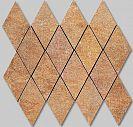Apavisa Quartzstone Deco Rosso estructurado mosaico rombo