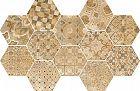 Ragno Epoca Decoro Cementine Ocra 21x18.2