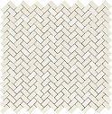 Ragno Tactile Titanio Mosaico Bone 40x40